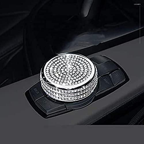YFBB 1 Botón de Control Central para Botones de Control Multimedia Cubiertas de Panel de Control Multimedia para Visores Interiores Decoraciones Cristal Brillante, para BMW Serie 1 3 4 5 7
