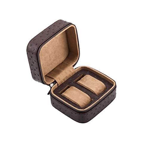 XZJJZ Joyería de Box-Caja de Reloj de una Ranura de la PU del Cuero del Caso de exhibición del Reloj de Pulsera de la joyería del sostenedor del Organizador del almacenaje con el Amortiguador Hombres