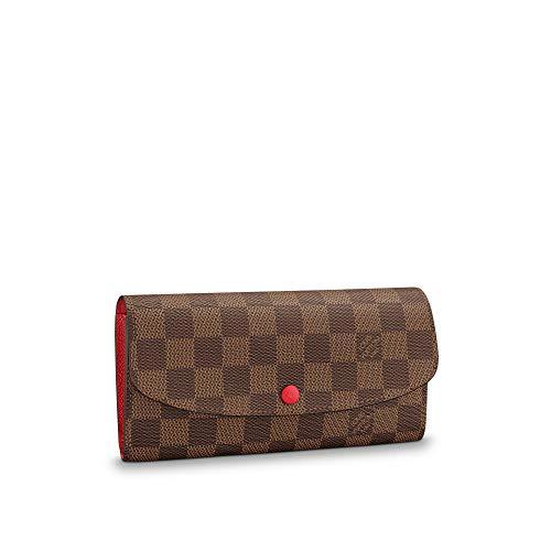 Louis Vuitton Emilie Wallet Damier Ebene Canvas (Rouge)