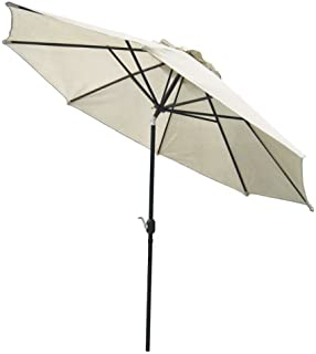 Gale Pacific, USA 317171, Patio, 90% UV Block, Adjustable Tilt, Smoke COOLAROO 11' Market UMBRELLS, Shade, Round Exterior Umbrella
