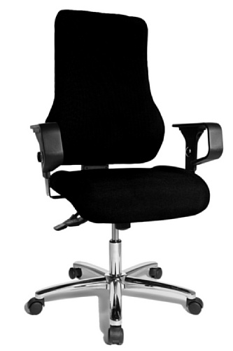 Topstar TO29XG20 Top Point SY Deluxe, Bürostuhl, Schreibtischstuhl, ergonomisch, inkl. Armlehnen, Bezug, schwarz