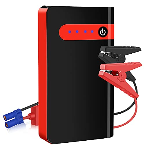 Arrancador de batería portátil para coche, 12 V, cargador de batería portátil, 3000 mAh, arranque de emergencia con carga rápida USB