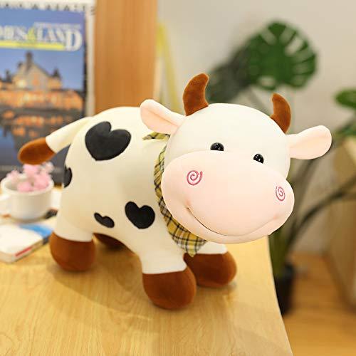 Hunpta @ 30cm Nettes Kühe Plüschtiere mit Herzform Valentinstag Plüsch Spielzeug Stofftier Kuscheltier Puppe Home Dekokissen Geburtstag Weihnachten Kreativ Geschenk für Kinder Junge Mädchen