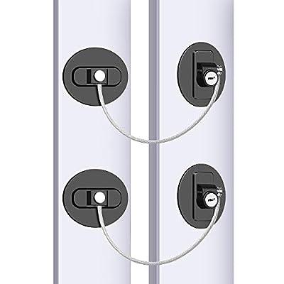 Refrigerator Lock, Child Proof Safety Locks, Su...