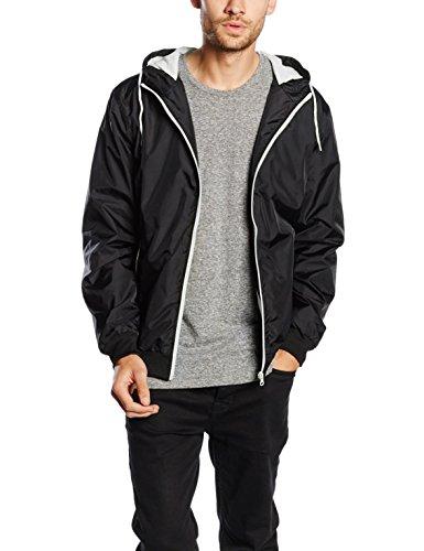 Urban Classics Herren Jacke Bekleidung Contrast Windrunner mehrfarbig (Black/White) XXX-Large
