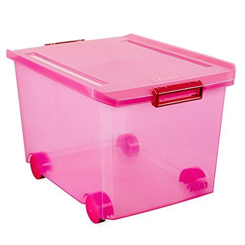 Tatay 1150312 Caja Multiusos con Ruedas, 60 l, Fucsia, 40.00x56.50x36.20 cm