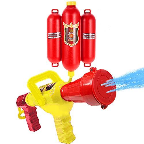 GoolRC Feuerwehrmann Toys Rucksack Wasser Spritzen Toy Blaster Feuerlöscher mit Düse und Tank Set Kinder Outdoor Wasser Strand Spielzeug für Kinder Geschenke