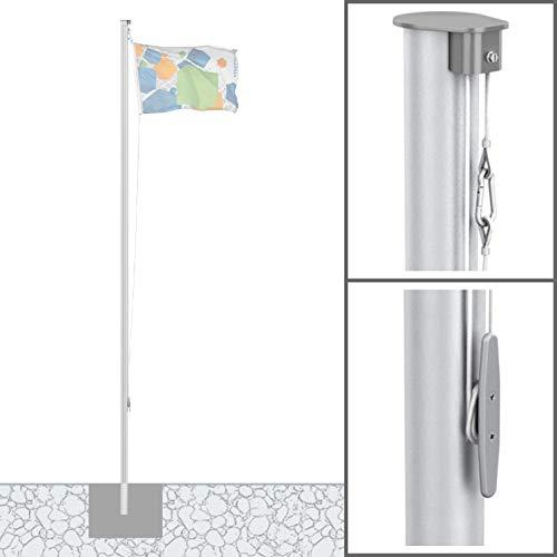 Vispronet® Alu-Fahnenmast 8 m/ø 90 mm ✓ Basic, ohne Ausleger ✓ Nahtlos Zylindrisch ✓ aus Deutscher Produktion