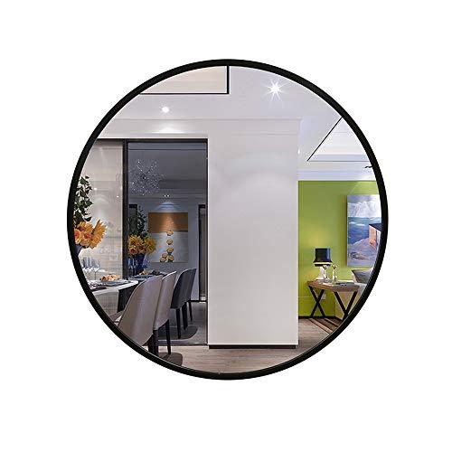 Mirror Espejo Color Madera cruda/Espejo de baño Negro Espejo de Maquillaje Color Madera cruda Espejo Decorativo Espejo de tocador Espejo de baño Espejo Negro diámetro Redondo 60 / 80cm