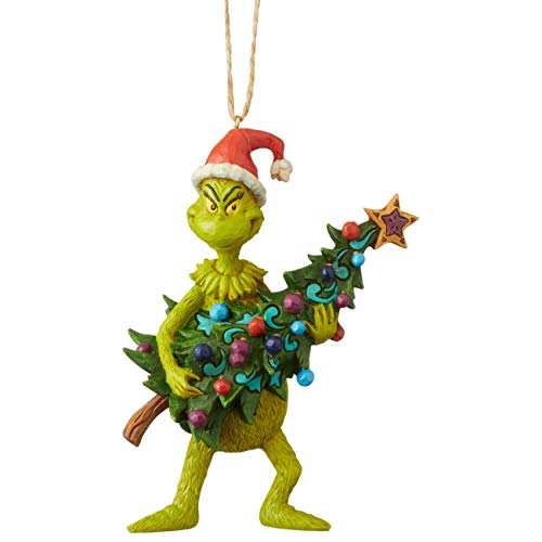 Enesco Dr. Seuss The Grinch by Jim Shore Tree Hanging Ornament, 4.92 Inch, Multicolor,6004069
