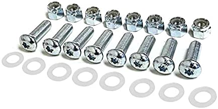 Universal Crossmember Bolt Kit Nut+Washer Works with Standard Dry Van Cargo Semi Horse Utility Trailers (Bolts 3/8?-24 Thread) (KITTX06M)