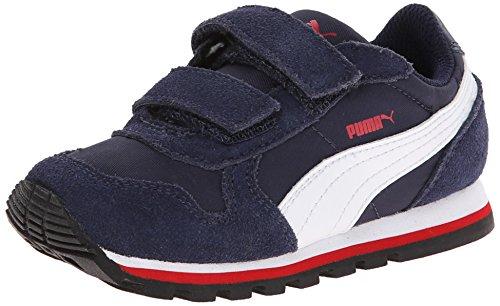 PUMA ST Runner NL V Kids Sneaker (Little Kid/Toddler/Little Kid) , Peacoat/White/High Risk Red, 9 M US Toddler