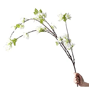 LSNLNN Artificial Flower,Fake Flower Bougainvillea Green Leaf Simulation Bouquet Decoration Large Floor Fake Flower Soft Decoration Decoration Creativity Permanent