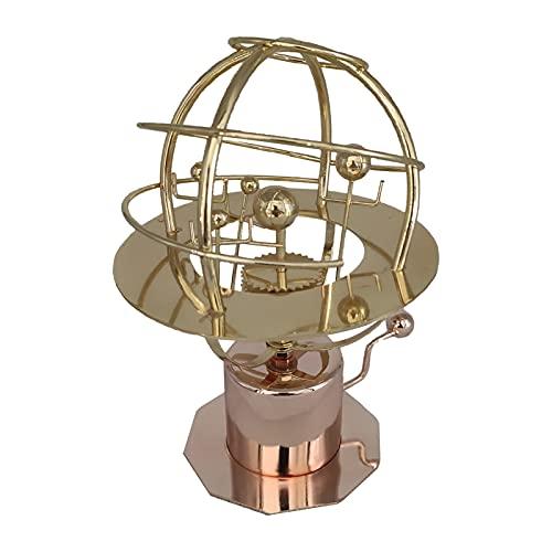 thorityau Modelo Grand Orrery del sistema solar, decoración del modelo del sistema solar mecánico retro, modelo 3D de la torre Orrery del arte de la ciencia, dormitorio y sala de estar