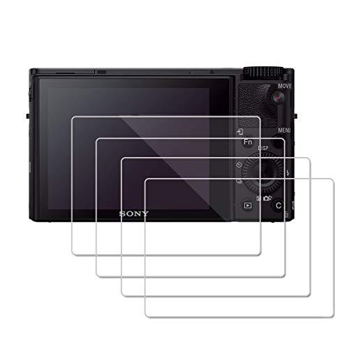 (4 Piezas) OOTSR Protector de Pantalla para Sony RX100VI RX100V IV RX100III RX100II RX100, Protector de Vidrio Templado para Sony RX100 RX100II RX100III RX100IV RX100V RX100VI