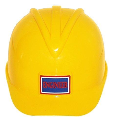 Adult Plastic Construction Helmet | Yellow Engineer Hard Hat | Builder Safety Worker Costume Prop