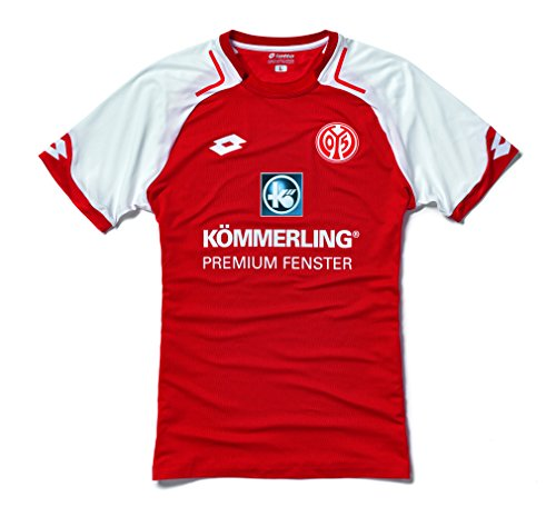 Lotto FSV Mainz 05 Accueil 2017/2018 Maillot Homme, Rouge, FR : XL (Taille Fabricant : XL-52)