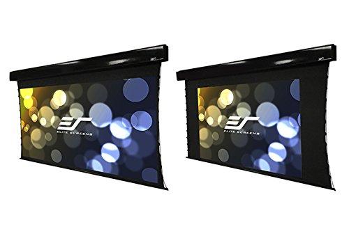 "Elite Screens Vmax Tab-Tension Dual, 97"" 2.35:1/78"" 16:9, Dual Format Wall/Ceiling Motorized Cinema Projector Screen, VMAXT97C78H"