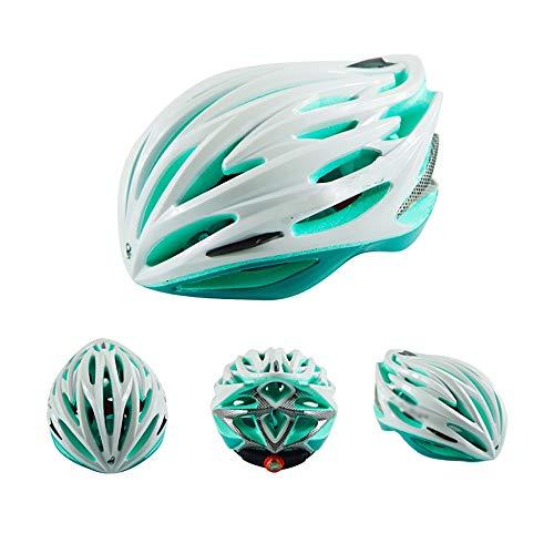 JIAGU Cascos para Bicicletas para Adultos Casco de Ciclismo Casco Bicicleta de montaña Casco Deportivo for Adultos (Color : White Cyan, Size : 62cm)