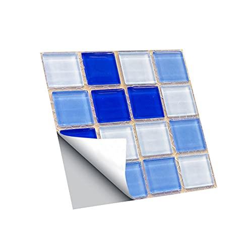 Bodhi2000 Adhesivo de pared, decoración de pared, extraíble, fácil de usar, 10 unidades/set impermeable para azulejos fuerte adhesivo de PVC 3D DIY autoadhesivo para el hogar - K