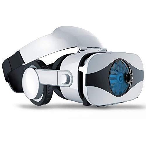 NILINLEI VR Gafas de Realidad Virtual con la película 3D Juegos, Ventilador de refrigeración de diseño, Lente Anti Azul, le Permiten experimentar la Virtual dondequiera en Cualquier Momento Mundial