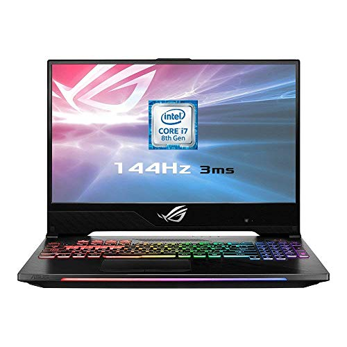 ASUS ROG GL504GS-ES111T 15.6 Inch 144 Hz 3 ms Gaming Laptop - (Black) (Intel i7-8750H, 16 GB RAM, 512 GB SSD PCI-e, NVIDIA GTX 1070 8 GB GDDR5 Graphics, Windows 10), QWERTY Keyboard - Black