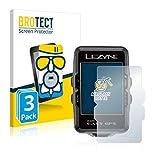 BROTECT Protector Pantalla Cristal Mate Compatible con Lezyne Macro Easy GPS Protector Pantalla Anti-Reflejos Vidrio, AirGlass (3 Unidades)