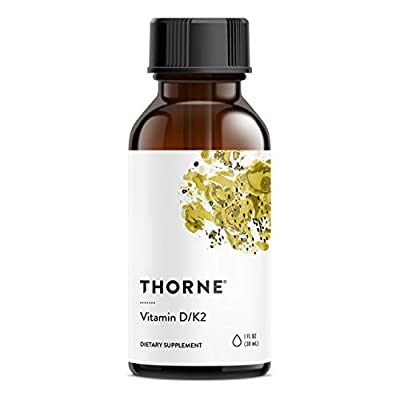 Thorne Research - Vitamin D/K2 Liquid - Dietary Supplement with D3 and K2 - 1 fluid ounce (30 mL) from Thorne Research