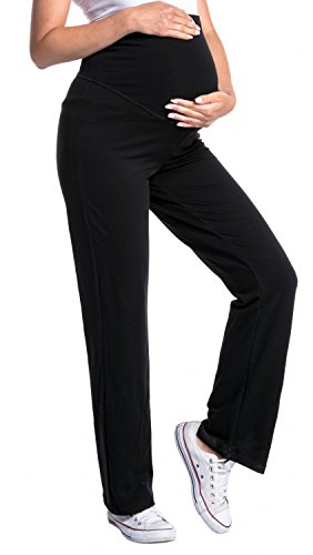 Zeta Ville -Damen Pantalone prémaman. Disponibile in 3 Lunghezze di Gamba - 691c (Taglia Normale Nero, IT 42/44, M)