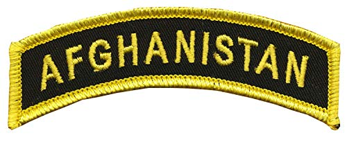 """CVMA Style TAB -""""Afghanistan"""" - 1"""" X 3 1/2"""" Wax Backing with Merrowed Edge - Operation Enduring Freedom (OEF) Motorcycle Combat Veterans Association Colors - Afghanistan War - War on Terrorism - A"""