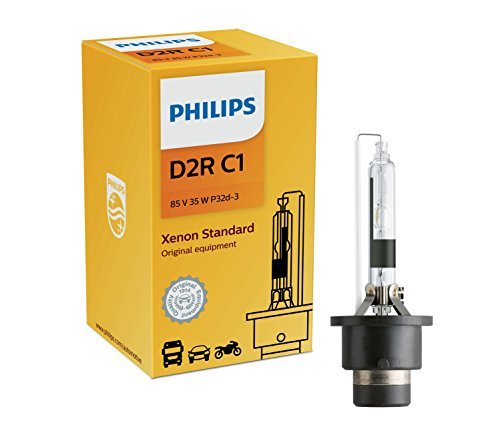 Philips D2R Standard Authentic Xenon HID Headlight Bulb, 1 Pack
