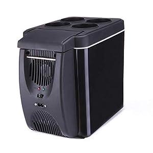 Hyy-yy 6L Réfrigérateurs voiture portable Camping Congélateur frais et chaud refroidissement rapide à faible bruit compact Glacière 12V / 220V