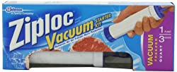 Image: Ziploc Vacuum Starter Kit | Includes specially designed vacuum bags | simple, battery-free, air removal pump