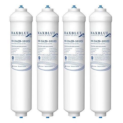 Maxblue DA29-10105J-Filtro Acqua per Frigorifero, Compatibile con Samsung(solo esterno)DA29-10105J DA99-02131B HAFEX EXP DA2010CB 5231JA2010B Wpro USC100 1 USC100 BL-9808 WSF-WSF-100(4)