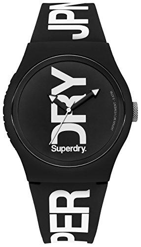 Superdry Herren Analog Quarz Uhr mit Silikon Armband SYG189BW
