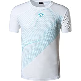 jeansian Men's Sports Breathable Quick Dry Short Sleeve T-Shirts Tee Tops Running Training LSL133