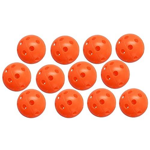 WEIJINGRIHUA Pollos de práctica de Golf Bola de Entrenamiento Deportivo de plástico Hueco,Uso en el hogar para Hombres al Aire Libre para Hombres niños, Naranja. (Size : 24pcs)