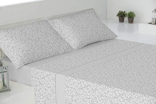 RAM'S sábanas de Invierno coralina Tacto sedalina- Luxury Soft-con Mayor Grosor y Calidad del Mercado (240 grs/m2),Aberdeen Gris. (para 150cm)