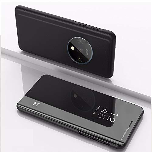 Cajas de Cuero LJR para Xiaomi Redmi K30 PROPLATED MIRN MIRN Horizontal Flip Funda con Titular (Negro) (Color : Negro)