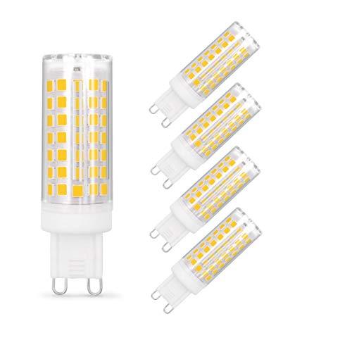 G9 LED Leuchtmittel Dimmbar, 7W Ersatz für 50W 60W Halogenlampe, Kein Flackern, Warmweiß 2700K, 550LM, G9 Sockel Led Birne Lampe, 360° Abstrahlwinkel, 5er Pack