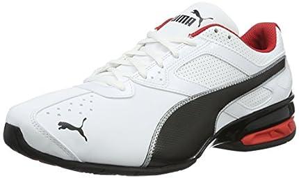 Puma - Tazon 6 FM, Zapatillas de Running Hombre, Blanco (Puma White-Puma Black-Puma Silver 02), 44 EU