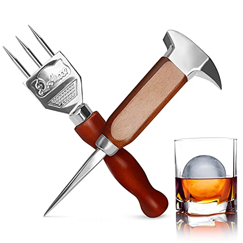 Stainless Steel Ice Pick Set, 7.2 Inch Ice Crusher and 6.8 Inch