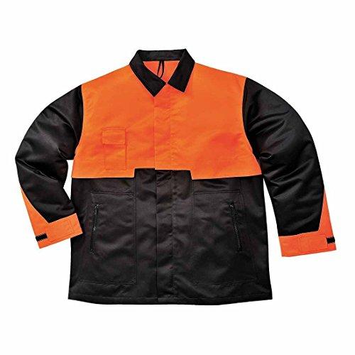 Portwest CH10 - chaqueta motosierra, color Negro, talla Large