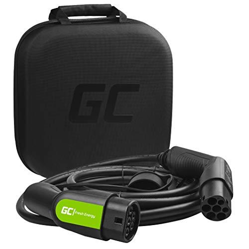 Green Cell® GC Type 2 Ladekabel für EV Elektroautos PHEV | 22kW | 32A | Typ 2 auf Typ 2 | 7 Meter | 3-Phasig | Kompatibel mit Tesla Model S / 3 / X/Y, ID.3, i3, Leaf, ZOE, EQC, I-Pace, E-Tron