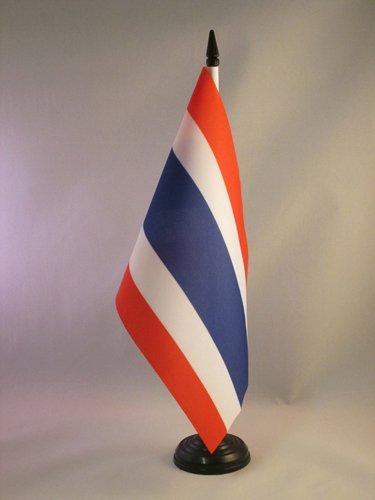AZ FLAG TISCHFLAGGE Thailand 21x14cm - THAILÄNDISCHE TISCHFAHNE 14 x 21 cm - flaggen