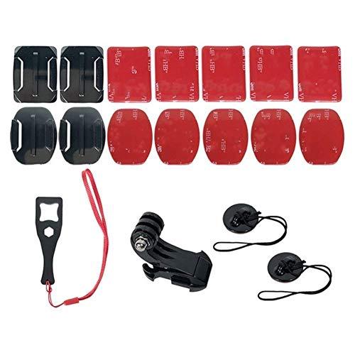 Brazo de montaje para casco de motocicleta para xiaomi Yi 4K para gopro Hero 8/7/6/5/4 para SJCAM Sj4000 Eken H9 Accesorios de cámara de acción (Color: Accesorios)