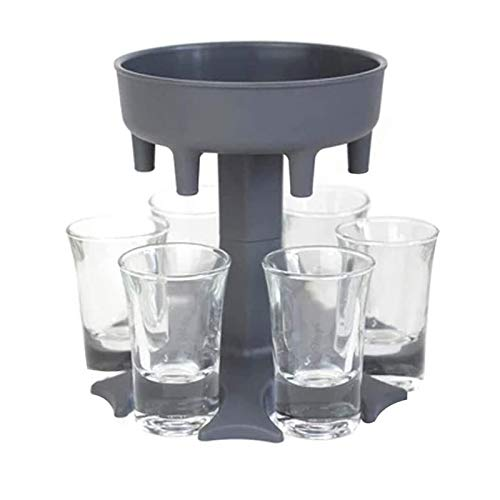 SQYX Shot Glass Dispenser 6 Ways,Soda Can Beer Glasses,Shots Dispenser Stand,Shot Glass Dispenser Holder,for Bar Cocktail Great Party Gift (Gray)