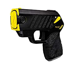 Taser Pulse+ Stun Gun Kit with (2) cartridges, and (2) extra cartridges, (4) total. High visibility flashlight, and targeting laser, for a better aim. 15 feet shooting distance, with a conductive practice target included. Protect from attacker with a...