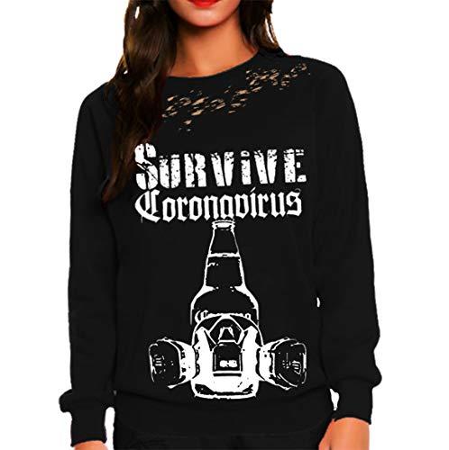 Queen Apparel Coronavirus Sweatshirt Black Large