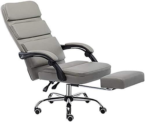 Silla ergonómica de escritorio de oficina silla de la computadora Silla con brazos de soporte lumbar de tareas Ejecutivo del balanceo giratorio de la PU de cuero for las mujeres de los hombres adultos